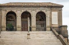 Dziejowy budynek miejsca kultu St Mary Araceli w Rzym, kapitał Włochy Fotografia Royalty Free