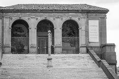 Dziejowy budynek miejsca kultu St Mary Araceli w Rzym, kapitał Włochy Zdjęcia Royalty Free