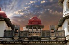 Dziejowy budynek w Gulab Bagh, Udaipur, Rajasthan, India obrazy royalty free