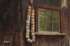Dziejowy budynek Z okno Fotografia Stock