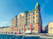 Dziejowy budynek znać jako Dr Poehl apteka Zdjęcie Royalty Free