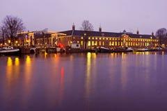 Dziejowy budynku dziedzictwo w Amsterdam holandie nig Zdjęcie Stock