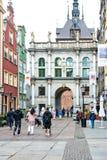 Dziejowy centre Gdański miasto fotografia stock