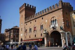 Dziejowy centrum Ferrara zdjęcia stock