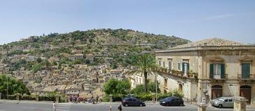 Dziejowy centrum miasta odrobiny w Sicily, Włochy jest UNESCO światowego dziedzictwa miejscem Zdjęcia Royalty Free