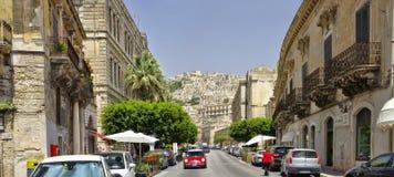 Dziejowy centrum miasta odrobiny w Sicily, Włochy jest UNESCO światowego dziedzictwa miejscem Obraz Stock