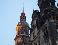 Dziejowy centrum Niemcy Drezdeński, (punkty zwrotni) Fotografia Royalty Free