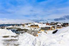 Dziejowy centrum Nuuk Zdjęcie Royalty Free