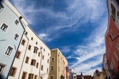 Dziejowy centrum Rattenberg, medieva, mały i malowniczy Zdjęcia Royalty Free