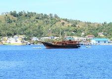 Dziejowy drewniany statek Zdjęcie Royalty Free