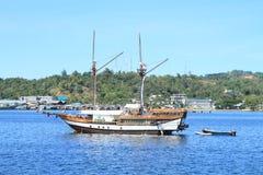 Dziejowy drewniany statek Zdjęcia Royalty Free