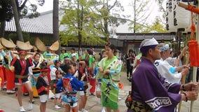 Dziejowy festiwal, Nara, Japonia zdjęcie wideo