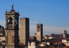 Dziejowy góruje Bergamo, Lombardy, Włochy zdjęcie royalty free