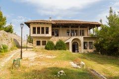 Dziejowy grodzki Berat, ottoman architektura w Albania, Unesco światowego dziedzictwa miejsce zdjęcia royalty free