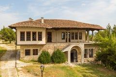 Dziejowy grodzki Berat, ottoman architektura w Albania, Unesco światowego dziedzictwa miejsce fotografia stock