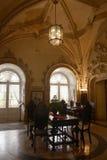 Dziejowy hotelu lobby, Bussaco pałac, Przesklepiony sufit Zdjęcia Stock