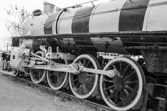 Dziejowy kanadyjczyk zrobił parowej lokomotywie obrazy stock