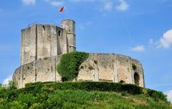 Dziejowy kasztel Gisors w Normandie Fotografia Stock