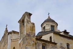 Dziejowy kościół Calvi zdjęcie royalty free