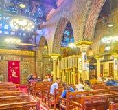 Dziejowy kościół w Koptyjskim sąsiedztwie w Kair, Egipt fotografia royalty free