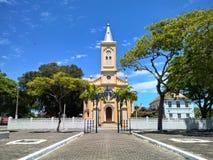 Dziejowy kościół w Quissama mieście, Rio De Janeiro Brazylia Fotografia Royalty Free