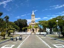 Dziejowy kościół w Quissama mieście, Rio De Janeiro Brazylia Zdjęcia Royalty Free