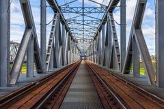 Dziejowy kolejowy most w Tczew, Polska Obrazy Stock