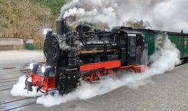 Dziejowy kontrpara pociąg na Rugen w Niemcy Zdjęcia Stock