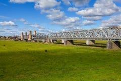 Dziejowy most w Tczew, Polska Obrazy Stock