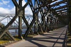 Dziejowy most w Tczew, Polska Zdjęcia Royalty Free