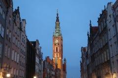 Dziejowy muzeum wierza Gdański Polska, Mokafin przy nocą - Fotografia Royalty Free