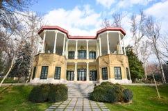 Dziejowy Niavaran kompleks w Teheran Obrazy Stock