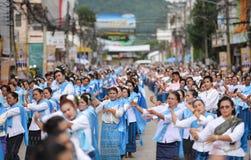 Dziejowy obrazek ceremonia taniec bogini Thailand 2018 Zdjęcie Stock