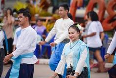 Dziejowy obrazek ceremonia taniec bogini Thailand 2018 Obrazy Stock