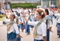 Dziejowy obrazek ceremonia taniec bogini Thailand 2018 Obrazy Royalty Free