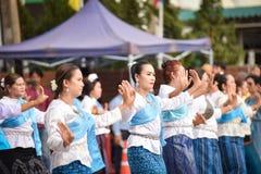 Dziejowy obrazek ceremonia taniec bogini Thailand 2018 Obraz Stock