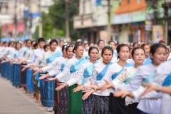 Dziejowy obrazek ceremonia taniec bogini Thailand 2018 Fotografia Stock