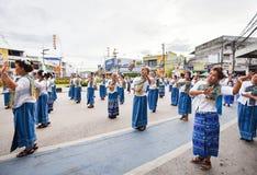 Dziejowy obrazek ceremonia taniec bogini Thailand 2018 Zdjęcia Royalty Free