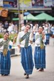 Dziejowy obrazek ceremonia taniec bogini Thailand 2018 Zdjęcia Stock