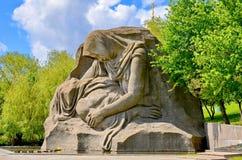 Dziejowy pamiątkowy kompleksu Mamayev Kurgan w Volgograd Stalingrad «, rzeźba Boleściwa matka obraz royalty free