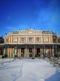 Dziejowy pawilonu Des Petits Jeux w centrum miasta zdrój, Belgia, część galeria Leopold II i parc de Sept heures, zdjęcie royalty free