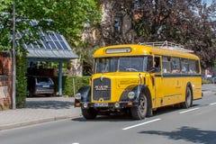 Dziejowy Postbus Fotografia Royalty Free