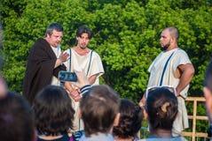 Dziejowy reenactment handel niewolnikami w Antycznym Obrazy Royalty Free