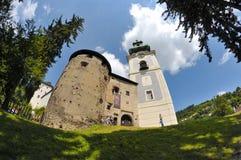 Dziejowy Stary kasztel - Stary zamok w Banska Stiavnica Obrazy Stock