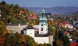 Dziejowy Stary kasztel - Stary zamok w Banska Stiavnica Zdjęcie Stock