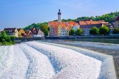 Dziejowy Stary miasteczko Landsberg Am Lech, Bavaria, Niemcy Obraz Stock