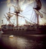 Dziejowy statek Obrazy Royalty Free