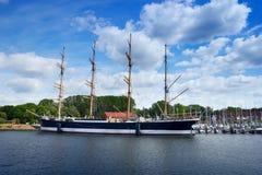 Dziejowy statek Passat w Starym Grodzkim molu Travemunde Fotografia Stock