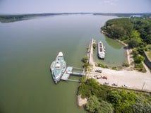 Dziejowy statek Radetsky w Danube rzece Obraz Stock