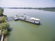 Dziejowy statek Radetsky w Danube rzece Zdjęcie Stock